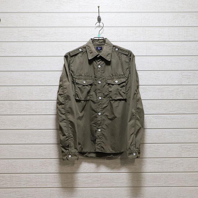 ハリス(HARRISS)パイロット風デザインシャツ Mサイズ コンディションB オリーブ 価格2,200(税込)