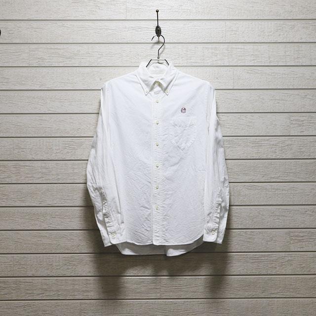 エミスフェール(HEMISPHERES)オックスフォードボタンダウンシャツ Mサイズ コンディションB ホワイト 価格2,200(税込)