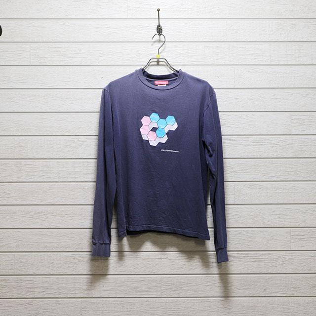 クールテンポ226 ECHO COOLTEMPO 長袖プリントTシャツ Mサイズ コンディションB ネイビー 価格1,100円(税込)