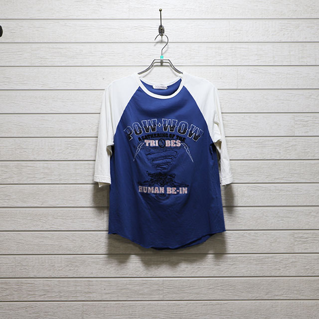 dots wear design 7分袖プリント刺繍Tシャツ Mサイズ コンディションB 価格2,200円(税込)