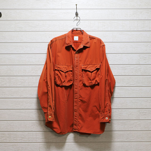 デザート(dezert) フラップ付きダブルポケットダンプワークシャツ Mサイズ コンディションB オレンジ 価格2,200(税込)売切れ