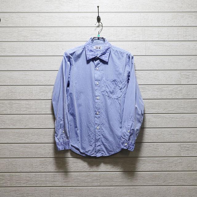 ハリスローファーズ(HARRRISS LOAFERS)花柄ジャガード柄パーツデザインシャツ Mサイズ コンディションB ブルー 価格2,200(税込)