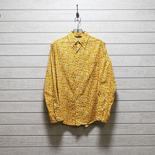 ハリスローファーズ(HARRRISS LOAFERS)花柄プリントレギュラーシャツ Mサイズ コンディションB イエロー 価格2,200(税込)