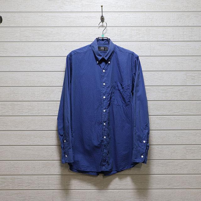 アイクベーハー(IKE BEHAR) ギンガムチェックボタンダウンシャツ Mサイズ コンディションB ブルー 価格4,400(税込)