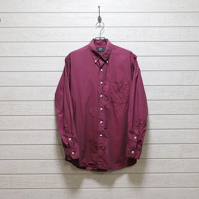 アイクベーハー(IKE BEHAR) ギンガムチェックボタンダウンシャツ Mサイズ コンディションB レッド 価格4,400(税込)