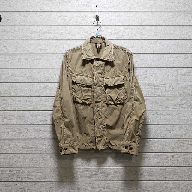 オムニゴット OMNIGOD ダンプ素材シャツジャケット(傷穴あり) Mサイズ コンディションB カーキ 価格3,300(税込)