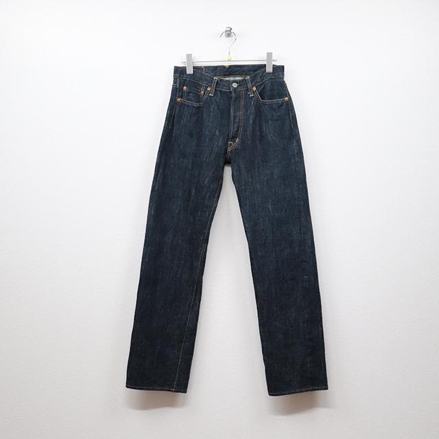 オムニゴッド(OMNIGOD)セルヴィッチデニム 5Pストレートジーンズ 29インチサイズ コンディションB ブルー 価格3,300(税込)