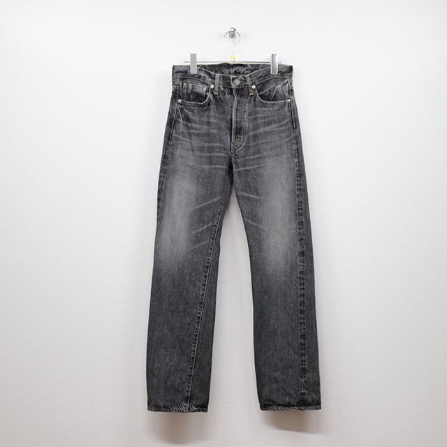 オムニゴッド(OMNIGOD)セルヴィッチデニム 5Pストレートジーンズ 29インチサイズ コンディションB ブラック 価格3,300(税込)