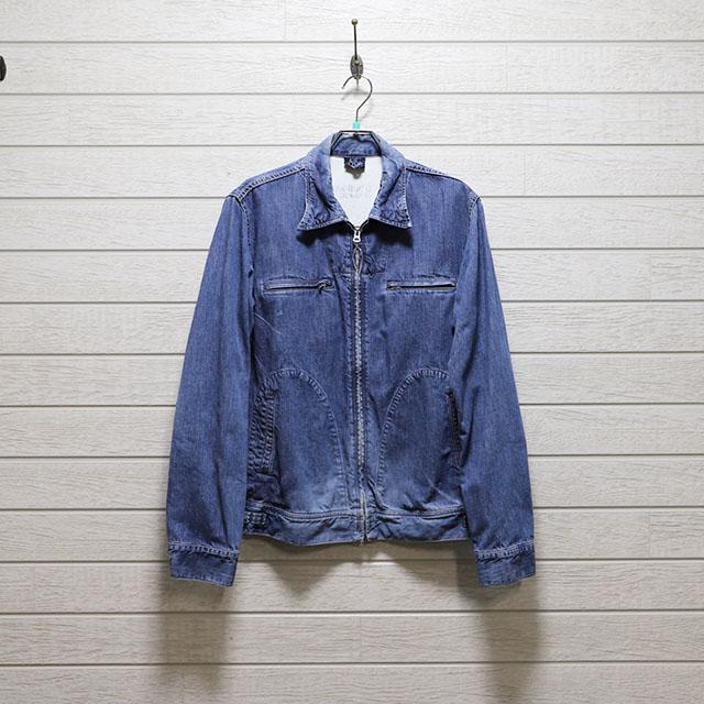 オムニゴット OMNIGOD デニムフロントジップショートジャケット Mサイズ コンディションB インディゴブルー 価格4,400(税込)売切れ