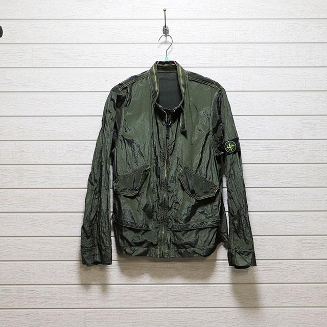 ストーンアイランドSTONE ISLAND ナイロンメタル特殊素材ショートジャケット Mサイズ コンディションB グリーン 価格8,800(税込) 売切れ