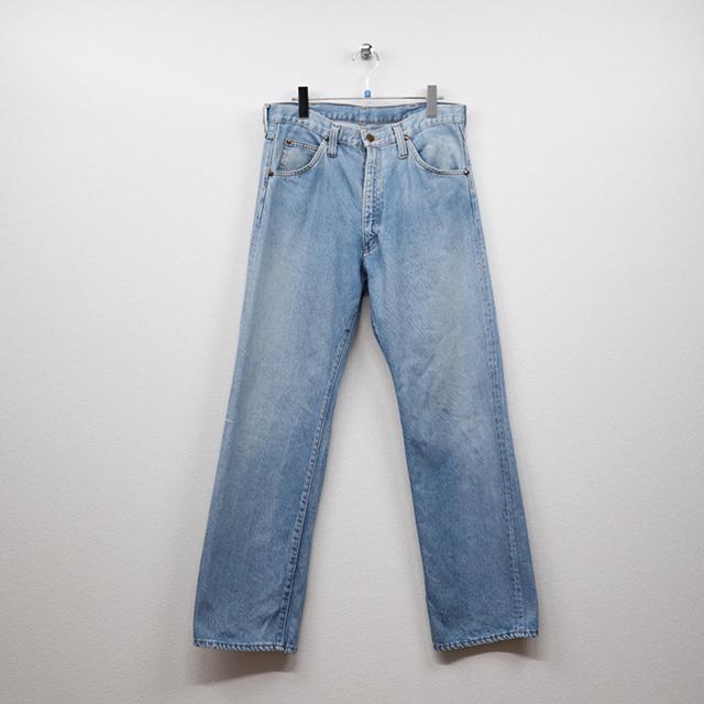 ラングラー(Wrangler)デニム 5Pストレートジーンズ 34インチサイズ コンディションB ブルー 価格3,300(税込)