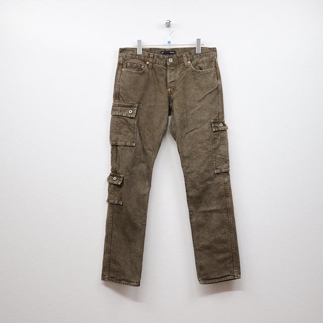 ジョンブル(JOHNBULL)ポケットデザインカーゴ5Pスリムパンツ LL(34インチ)サイズ コンディションB カーキ 価格3,300(税込)