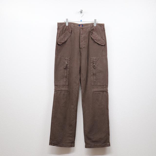 オムニゴッド(OMNIGOD)ポケットデザインワイドパイロットパンツ 4(34インチ)サイズ コンディションB ブラウン 価格3,300(税込)