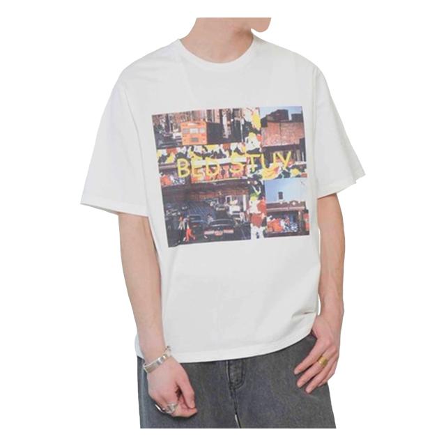 プリントTシャツ(BEDSTUY) ホワイト JOHNBULL 40%OFF ¥6,050(税込)→¥3,630(税込)