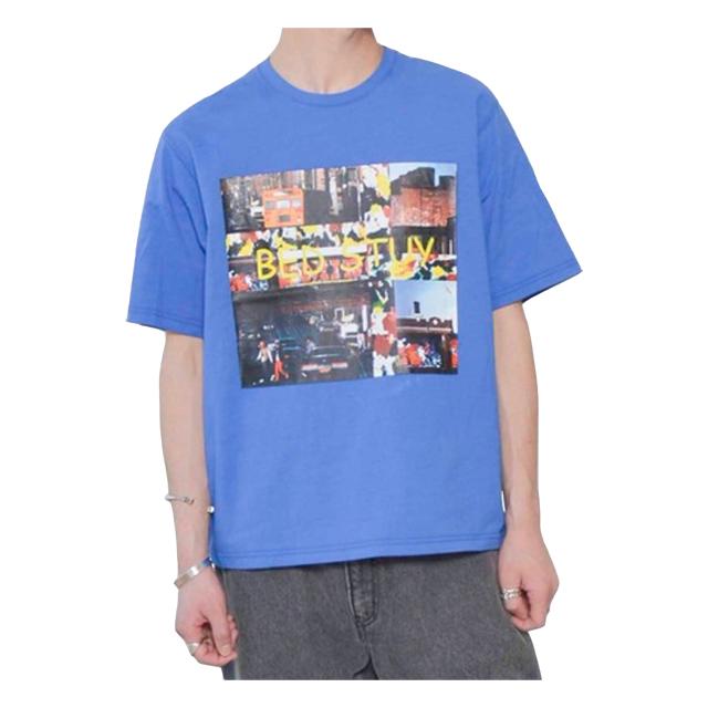 プリントTシャツ(BEDSTUY) ブルー JOHNBULL 40%OFF ¥6,050(税込)→¥3,630(税込)