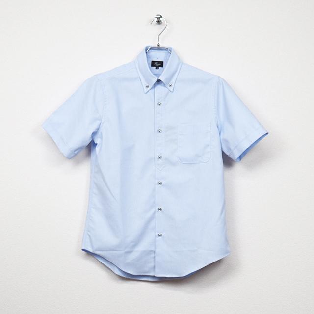 プルオーバー風半袖ボタンダウンシャツ ブルー系 HARRISS 40%OFF ¥13,200(税込)→¥7,920(税込)