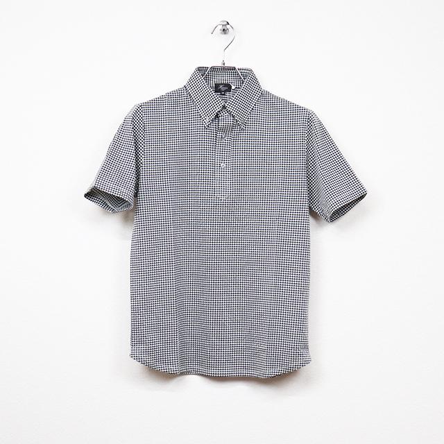 プルオーバー半袖ボタンダウンポロシャツ ブラック HARRISS 40%OFF ¥13,200(税込)→¥7,920(税込)