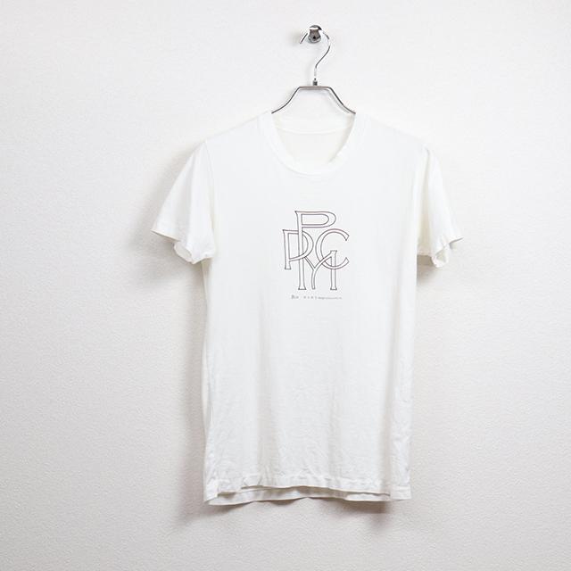 ピーピーシーエム(PPCM)半袖プリントTシャツ Mサイズ コンディションB ホワイト 価格2,200円(税込)