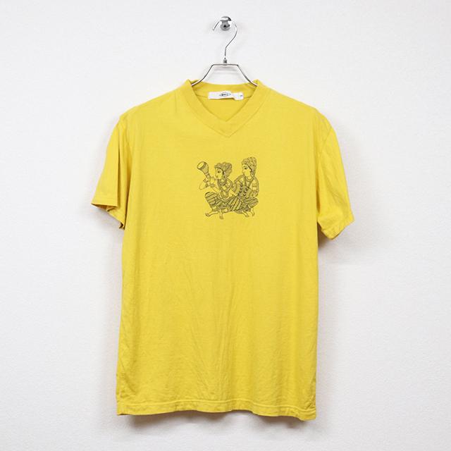 ボール(BALL)半袖プリントVネックTシャツ Mサイズ コンディションC イエロー 価格550円(税込)