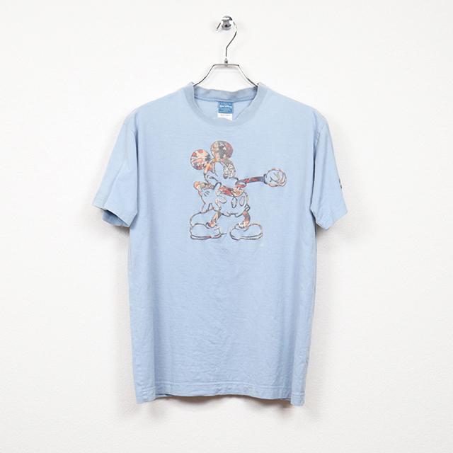 ピンクハウス(PINK HOUSE)半袖プリントTシャツ Mサイズ コンディションB サックスブルー 価格2,200円(税込)