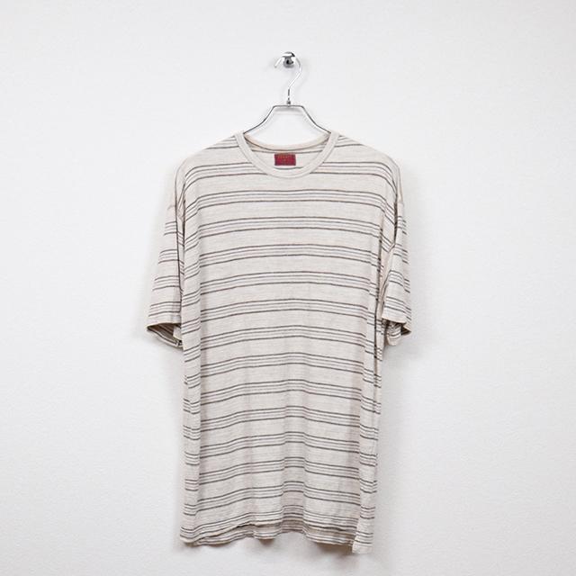 デザート(dezert)半袖ボーダーTシャツ Mサイズ コンディションB ベージュ系 価格880円(税込)売切れ