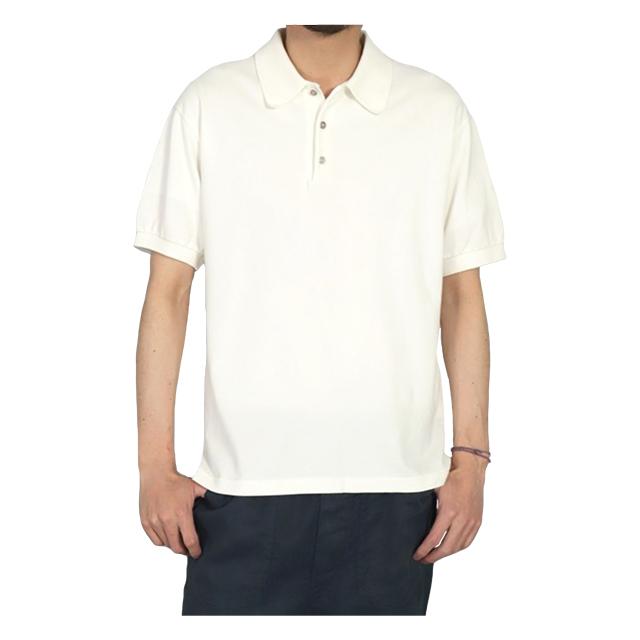 カノコショートスリーブポロシャツ ホワイト OMNIGOD 40%OFF ¥15,400(税込)→¥9,240(税込)
