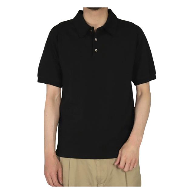 カノコショートスリーブポロシャツ ブラック OMNIGOD 40%OFF ¥15,400(税込)→¥9,240(税込)