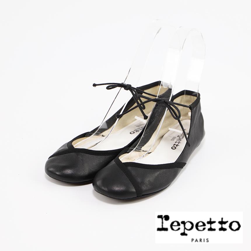 レペット repetto アンクルストラップ フラットパンプス ブラック サイズ36(22.7センチ)メーカーサイズ コンディションC ¥4,714