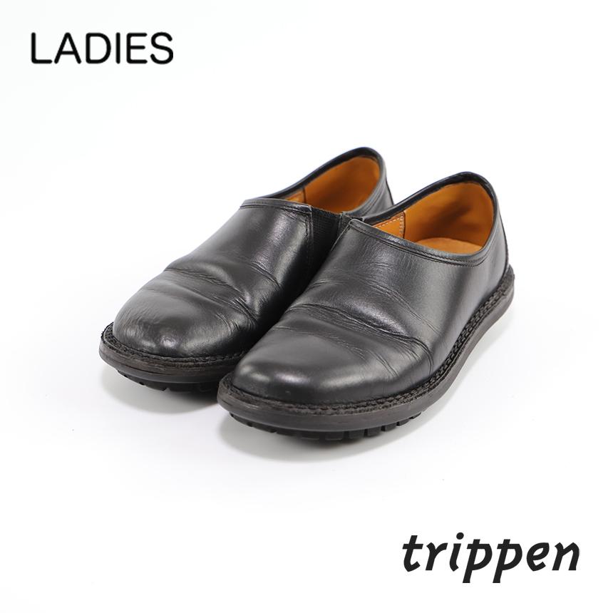 レディース[trippen] Yen black サイズ 36(23.0~23.5) コンディションC ¥4,400 カカトの修理済み 売切れ